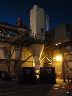 TCP Calgary - Dust Collector at Night